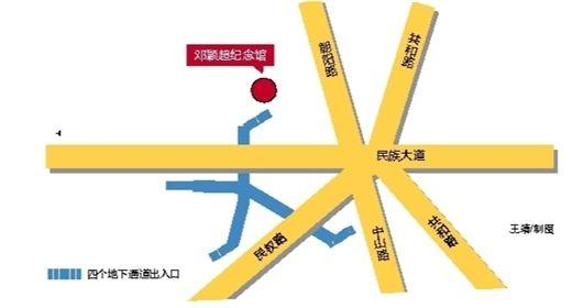 七岔路口示意图