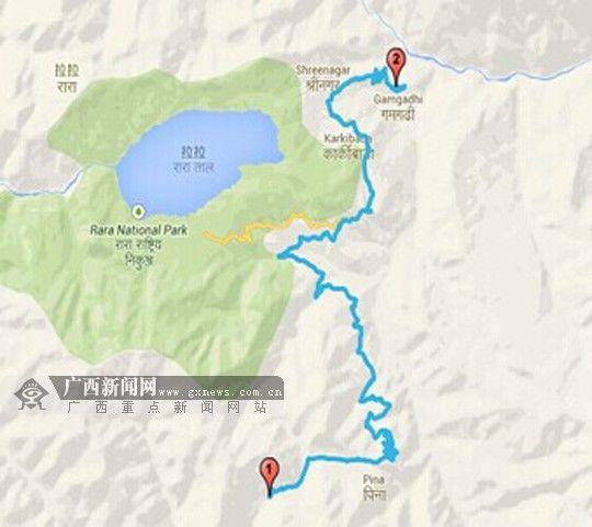 8月11日,杨文手机记录的行程,2号点为终点。图片由杨文家属提供