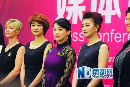 潘晓婷等部分参赛选手出席了昨天的媒体见面会。