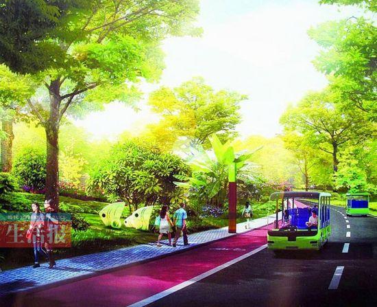 青秀山城市绿道效果图。记者 周军 摄