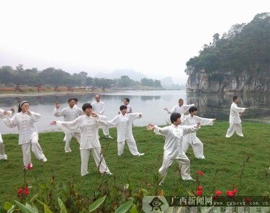 中外太极名家齐聚桂林,以武会友。广西新闻网记者 陆冰峰 摄