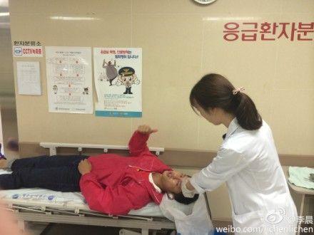 李晨录制节目过程中受伤入院治疗