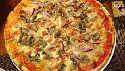 意式火腿蘑菇披萨