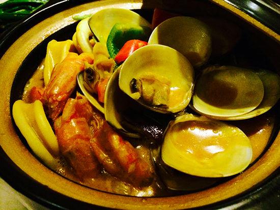 泰式咖喱海鲜煲