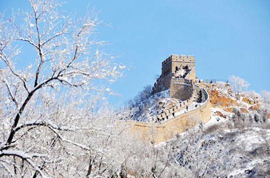 北京长城雪景