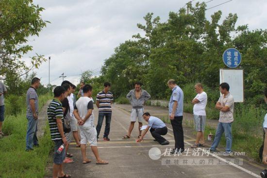桂林交警高速路绕城大队组织货运企业大练兵