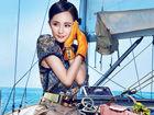 杨幂代言Dissona2013夏季箱包广告三亚拍大片