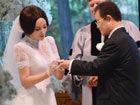 刘晓庆美国婚礼细节交换戒指深情一吻