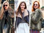 用时髦半裙增添冬季柔情欧美街拍最IN单品