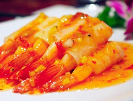 美味酸甜木瓜虾