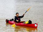 北海小伙独乘皮划艇十天漂流300多公里