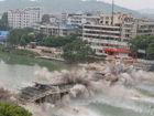 桂林市全州一桥成功爆破拆除