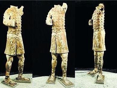 秦始皇陵考古首现土豪金陶俑:彩绘偏黄(图)