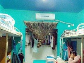 学生自主装修寝室:订做衣柜装吊椅(组图)