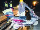 罐车焦糖泄漏23公里引发数起交通事故(图)
