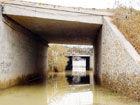 问题涵道一下大雨就积水村民出入困难(图)