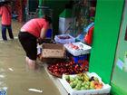 河池凤山遭暴雨袭击路段积水田地被淹(图)