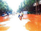 暴雨一来满街黄泥浆事发南宁市良庆区金象三区