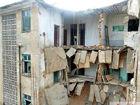灵川大圩古镇一楼房坍塌居民:以为是地震